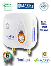 Electric Tankless Water Heater Point of Use Marey PP110 2 GPM Best 110V 4.4 kW