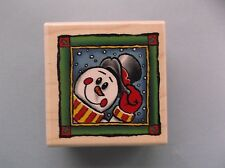 STAMPABILITIES RUBBER STAMPS MR. SNOWMAN STAMP LAST ONE!