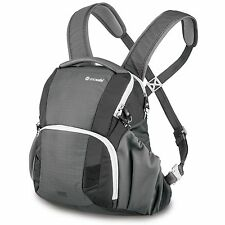NEW PACSAFE CAMSAFE V11 ANTI-THEFT DSLR CAMERA FRONT OR REAR BACKPACK STORM GREY