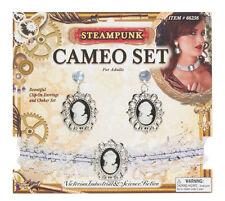 Steampunk oreille anneaux & tour de cou set Victorien Costume Robe fantaisie bijoux nouveau