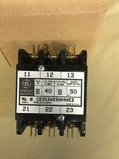 GE CR353AD3AH4AED DEFINITE PURPOSE MAGNETIC CONTACTOR 1 OR 3 PH, 24V COIL 40 AMP