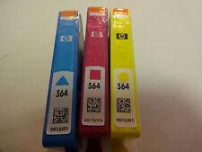 """NEW  SEALED """" HP 564 TRICOLOR  INK CARTRIDGES GENUINE"""" C/ M/ Y  See Detail"""