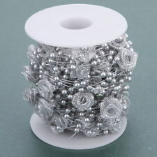 10M Flower Ribbon Pearls Beads Chain Garland Home Party Table Wedding Decoration