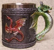 Tankard Goblet Mug Red Sparkle Dragon 12 ounce pour NEW Stainless Steel Insert