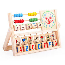 Wooden DIY Toy Educational Children Baby Kids Learning Early Development Abacus