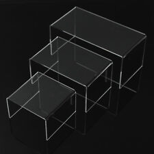 Acrylic Perspex Riser Shelf Nesting Plinths Shop Counter Display Stands medium