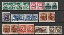 South West africa 1941/43 War effort in correct pais wth shades of 1/2d & 4d MM