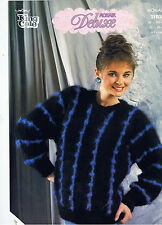"KING COLE 2103 LADIES KNITTING PATTERN DELUXE MOHAIR SWEATER 26""-  40"" (4 PLY EQ"