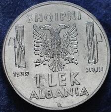 1939  Regno D'Italia  Albania 1 Lek  magnetico  FDC