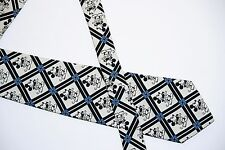 Black White & Blue Mickey Mouse Disney Necktie 55 Inch