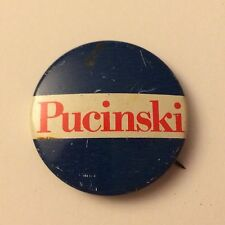 Vintage US Rep Roman Pucinski Campaign Pin Button CHICAGO History