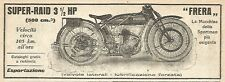 Y2957 Moto FRERA Super-Raid - Pubblicità del 1923 - Old advertising