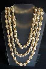 """Vtg Cowrie Shell Necklace Beach Statement Jewelry Lot 2 Phillipines~EUC~24"""", 17"""""""