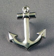 Metal Enamel Pin Badge Brooch Anchor Ship Yacht Sail Sailor Boat Sea Chrome