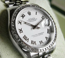 Rolex Datejust 178240 Midsize Steel Jubilee Diamond Bezel White Roman Dial 31MM