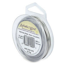 Artistic Wire Stainless Steel 18 Gauge 10 yards 41885 Round Shiny
