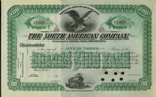 Member of Dow Jones Dozen 1896 ( DJIA 12 ) The North American Company Railroad