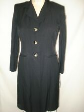 New wth Tags Black Dress Button Up Coat Style Size 4 Pet