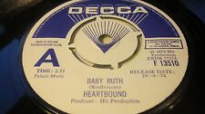 HEARTBOUND ‎– Baby Ruth / Sailor Man DECCA PROMO/DEMO WHITE/BLUE LABEL EX- wax