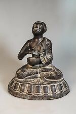 19th Century Antique Bronze  Buddha Monk Pra Upakut Statues from Burma