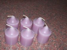 PARTYLITE VOTIVE CANDLES BLACKBERRY HONEY SET OF SIX