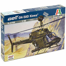 ITALERI Bell OH-58D Kiowa Helicopter 2704 1:48 Aircraft Model Kit