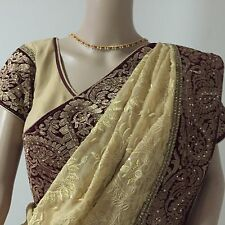Bollywood Traditional Party Wear Designer Saree with stitched blouse & Petticoat