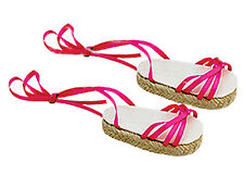 Hot Pink Espadrille Sandals Fits 18 inch American Girl Dolls