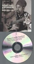 PROMO CD--MICHAEL FRANTI AND SPEARHEAD--ONE STEP CLOSER TO YOU--2TR