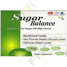 5 Boxes GSL SUGAR BALANCE SUPPLEMENT FOR HIGH GLUCOSE 1700mg WITH 15 TABLETS/BOX