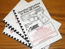 KAHR Arms MK SERIS MK9 MK40 Pistol Gun Owners Manual