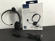Insignia - Landline Phone Headset With 2.5mm Connector - Black (E6)
