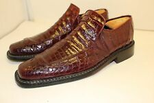 MAURI GENUINE CROCODILE SHOES MADE IN ITALY MEN'S SZ 9 FITS 10