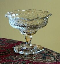 McKee Depression Glass Rock Crystal Scalloped Edge Sm Jam & Jelly Compote