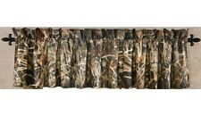 REALTREE MAX 4 CAMOUFLAGE WINDOW VALANCE - CAMO CABIN CURTAIN HUNTING DECOR