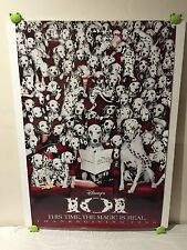 101 Dalmations Movie Poster 27x40 One Sheet **Rare 1996 Thanksgiving Release