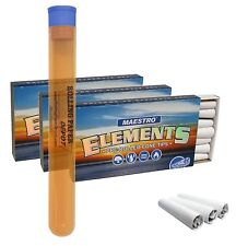 """3 Boxes Elements Pre Rolled Cone Tips """"Maestro""""(63 Total Tips) with Storage Tube"""