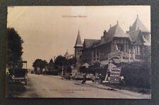 CPA. VILLIERS sur MARNE. 94 - GARAGE Route de Mainon à la Fourche. Hôtel.