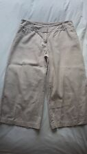 Three quarter length Ladies Culotte trousers Size 10