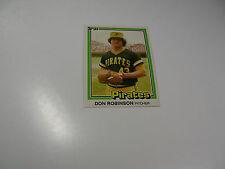 Don Robinson 1981 Donruss card #375