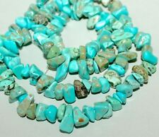 5-10mm Natural turquoise jewelry gemstone freeform chips loose beads DIY 16""
