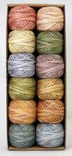 Valdani Perle Cotton Size 8 Embroidery Thread Muddy Monet Sampler Set