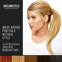 Clip In Ponytail Hair Extensions Wrap Round Pony tail Hair Pieces