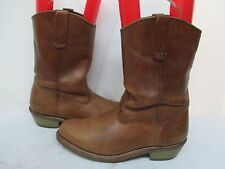 Field N Forest Brown Leather Soft Toe Cowboy Work Boots Size 10 EE Style 9588F