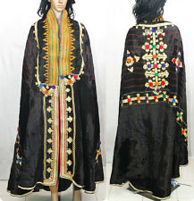 VINTAGE *COLLECTIBLE* BANJARA RABARI EMBROIDERY TRIBAL KUCHI VELVET STOLE SHAWL