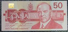 BANK OF CANADA - 1988 $50 CHANGE OVER NOTE Prefix FHV - Signed Knight & Thiessen