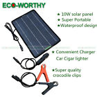 12V 10W PV Power Solar Panel Trickle Battery Charger Car SUV Truck Boat Caravan