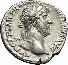 Hadrian Bisexual Emperor 125AD Silver Ancient Roman Coin Liberty Cult i51177