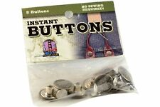 Trouser Braces Instant Buttons! 8 Pack Instant Buttons Quick & Easy #290