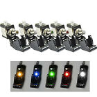 5pcs 12V Car Truck Boat Carbon Fiber LED Toggle Switch Light illuminated ON/OFF